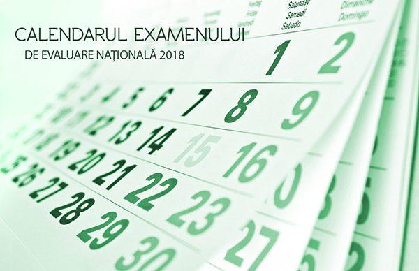 Calendar Evaluarea Naţională 2018