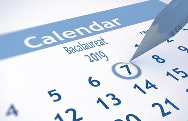 Calendar Bacalaureat 2019
