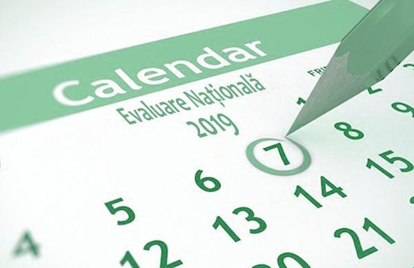 Calendar Evaluarea Naţională 2019